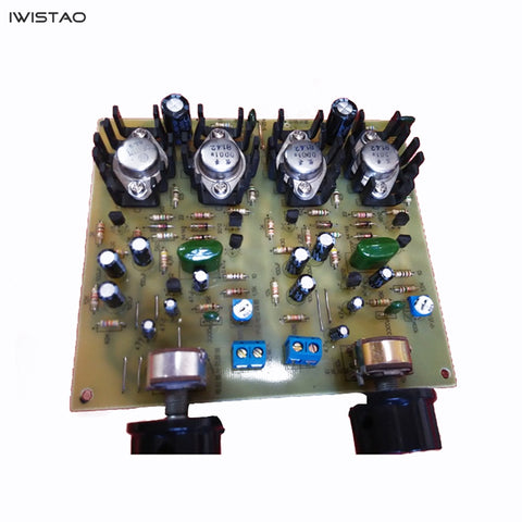 IWISTAO OTL Power Amplifier Finished Board Transistor Discrete Component 2X10W No Including Power Transformer