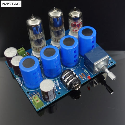 IWISTAO PCBA Tube Headphone Amplifier Kits HIFI WCF Solution 32~1200 Ohms Stereo Audio DIY