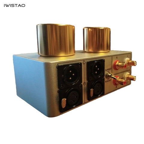 IWISTAO Passive Preamplifier Kit Unbalanced to Balanced/RCA to XLR/Signal Transformer