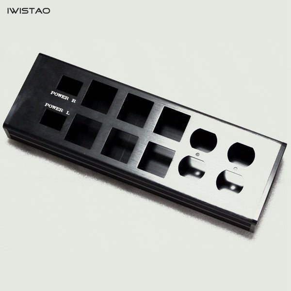 IWISTAO Power Strip Casing Whole Aluminum 10 Sockets L343*W115*H48mm No Accessories Black DIY