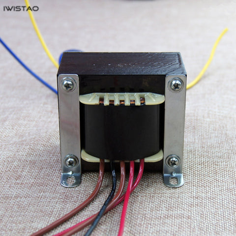 IWISTAO Power Transformer EI 100W for Tube Amplifier 0-115V-230V/200MA 6.3V/3.5A Audio