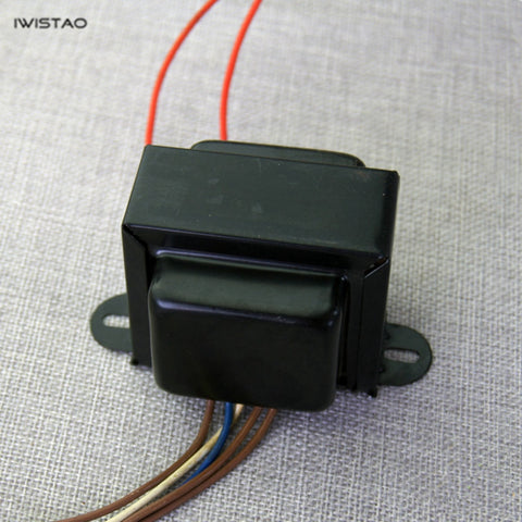 IWISTAO Power Transformer EI 26W for Tube Preamp 230V/43mA 0-6.3V-8V/1.5A for 6N2/6N4/X7/U7 Audio