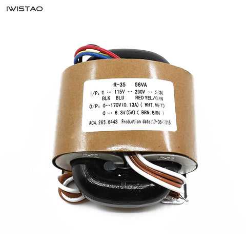 IWISTAO R Type Power Transformer 56W Input 0-115V-230V Output 170V 6.3V Tube Amp Preamp