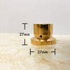 IWISTAO Solid Potentiometer Knob Whole Copper HIFI Amplifier OD 27/37mm H27/30mm Golden DIY