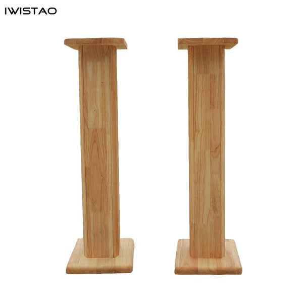 IWISTAO Solid Wood Speaker Stand 1 Pair Household HIFI Bookshelf Full Range Speakers Bracket DIY