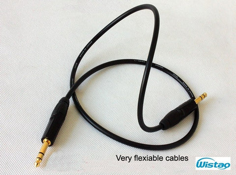 IWISTAO TRS Balanced Cable Canare Professional Broadcast Cable Stereo 6.35 Jack for Monitor Speaker