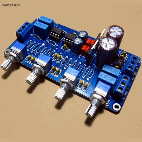 IWISTAO Tone Adjustment Board TE NE5532 Tremble Midrange Bass Volume Control DIY