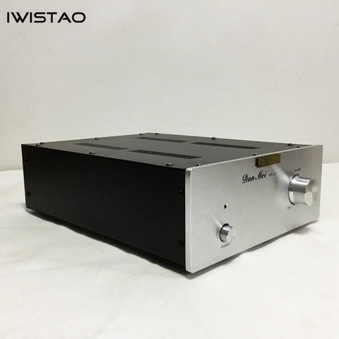 IWISTAO Tube Buffer Preamp Music Fidelity 12AU7 Stereo No Gain Sweet Natural Taste Silve Panel HIFI