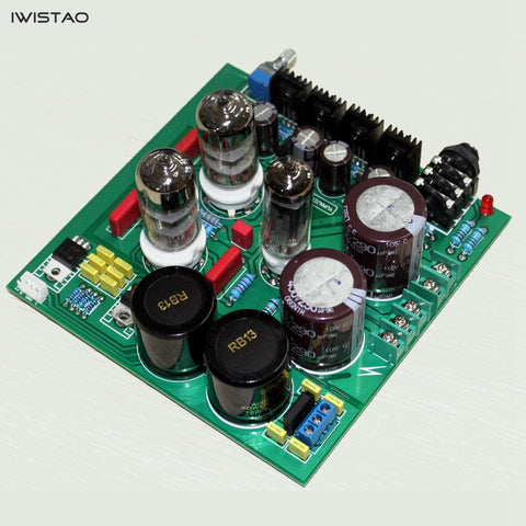 IWISTAO Tube Headphone Amplifier Class A Finished Board 6N3 Preamp 6Z4 Rectifier Lehmann