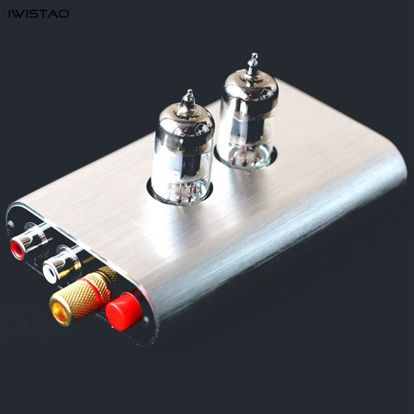 IWISTAO 6J1 Tube MM/MC Moving Coil Moving Magnetic Phono Preamplifier Vinyl Records Phonograph Amplifier