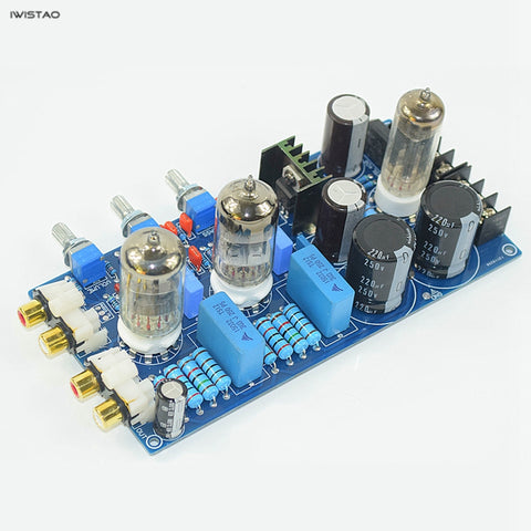 IWISTAO Tube Tone Adjustment Finished Board 6Z4 Rectifier 2x6N1 Bass Treble Volume Control DIY