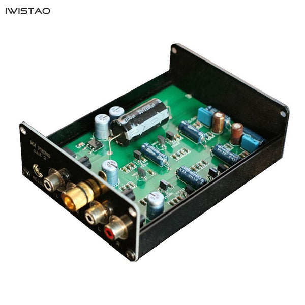 Moving Magnet Phono Stage Class A Single-ended NAIM Circuit Vinyl LP Aluminum Alloy Enclosure Black
