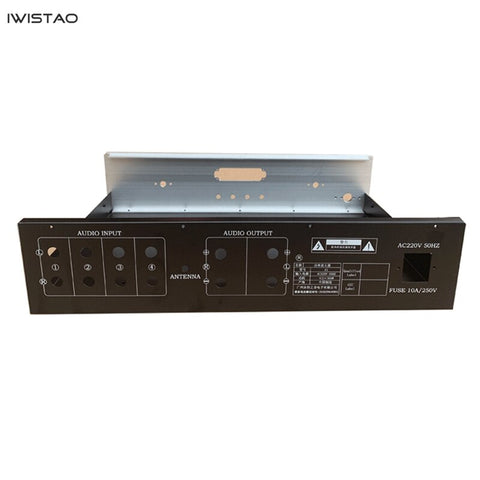 Power Amplifier Chassis Whole Metal Black Silver Front Panel 430*100*310mm with Bluetooth Module Board