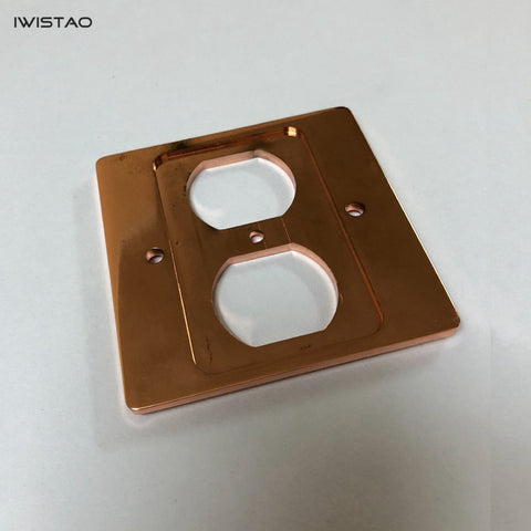 IWISTAO Copper Panel Home Socket Wall Panel High Conductivity Audio Dedicated American Style 85*85mm