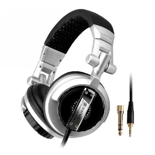 HIFI Headphone  Impedance 32 ohms DJ Earphone 106dB Cable length 2.5m 3.5mm Audio Input 6.5mm Adaptor