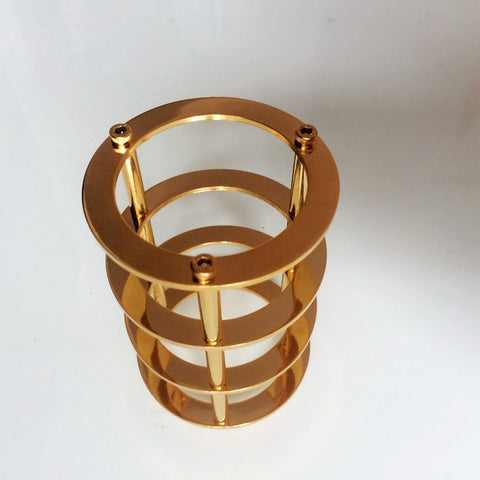 IWISTAO Tube Protective Shield 24K Gold-plated Pure Copper for Tubes EL34 6L6 DIY Amplifier