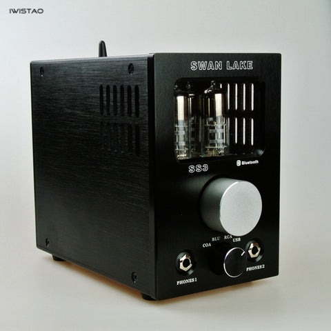 IWISTAO Tube Headphone Amplifier Decoder 6S6T USB Bluetooth 4.2 Receiver Coaxial APTX-LL HIFI