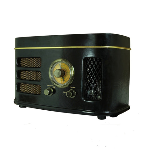 Tube Hybrid Radio 6N2 Preap 12W Power AM/FM 4 Inch Speaker Bluetooth Wooden Cabinet