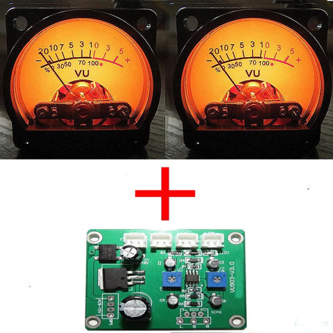 IWISTAO 1pc Driver Board and 2pc VU Meters Input AC/DC 9-15V for Tube Amplifier