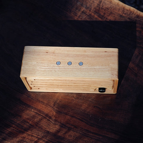 Bluetooth Speaker Handmade Original Color Pure Solid Wood Portable 2x15w AUX U Disk Playing