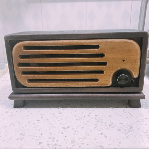 Bluetooth Speaker Handmade Vintage Pure Solid Wood Portable 2x15w AUX U Disk Playing