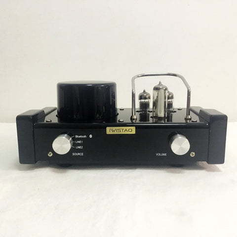 IWISTAO HIFI MINI Tube Hybrid Amplifier Wireless Bluetooth 4.0 6N1 Preamp Power Stage 2x28 W APT-X Desktop Audio 115/230V