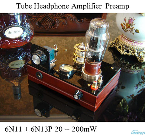 IWISTAO Tube Headphone Amplifier 6N11 Pure Class A Preamp Voltage Amp 6N13P Power Amp 32 ~ 600 ohm