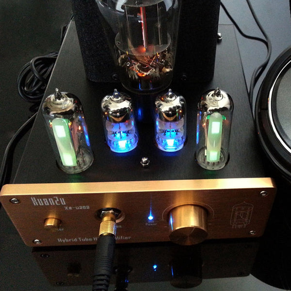 Tube Earphone Amplifier DAC Class A 6N3 SRPP Drive 6N5P 18-600 Ohm Output Power  Stereo Aluminum Case  HIFI 110V/220V