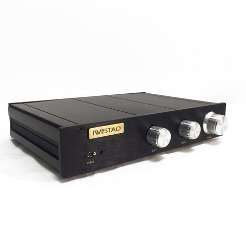 IWISTAO Electronical 2 Way Crossover Preamp HIFI Linkwitz-Riley filter 4-Ch Output 2.2KHz Customized