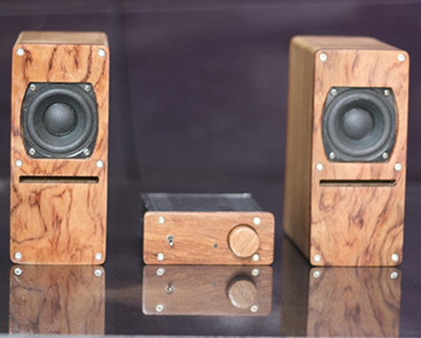 2 Inches Full Range Labyrinth HIFI Speakers  Plus LM1875 Amplifier with PCM2706 DAC Decoding