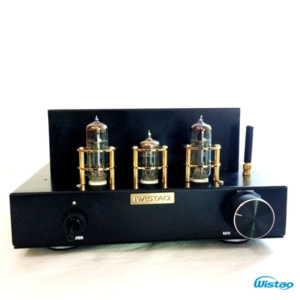 IWISTAO Tube Amp Bluetooth 4.2 Single-ended Class A Mini 6N2 Preamp 6P1 Power Stage 2x3.5W APT-X