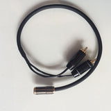 IWISTAO RCA to3.5mm Female-Jack Audio Cable for DAC&Preamp 4N OFC Budweiser RCA terminal