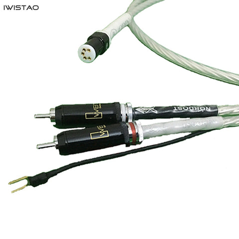 IWISTAO Music Ribbon ODIN LP Tonearm Vinyl Record Player Signal Cable 7N OFC 5-Pin Cardas Gold-plated Connector WBR RCA 1m /1.5m