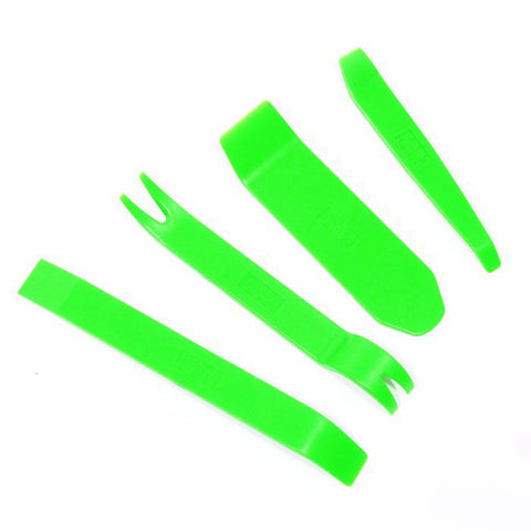 4 pcs Kit Dedicated Car Stereo Removal Tools for Car Audio Doors Entry Tool Car Crowbar DIY Your Car Audio