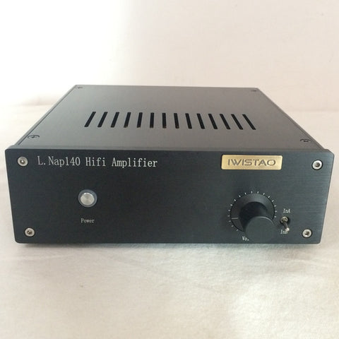 IWISTAO HIFI Power Amplifier 80Wx2 Stereo NAP140 MellowSoft Sound Tube Taste Black