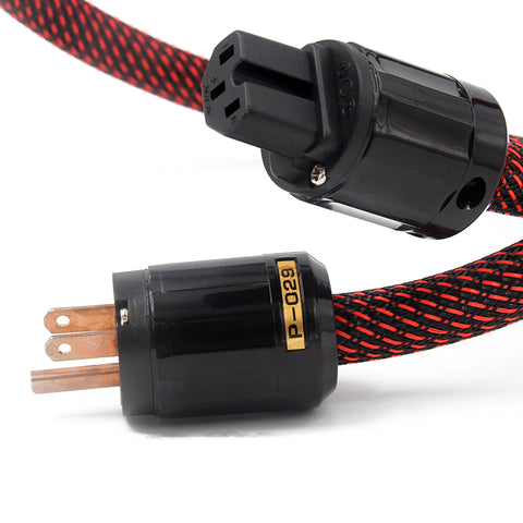 IWISTAO HIFI Power Cord Pure Copper US Monster 400 Power Cable Oyeide Copper Power Plugs