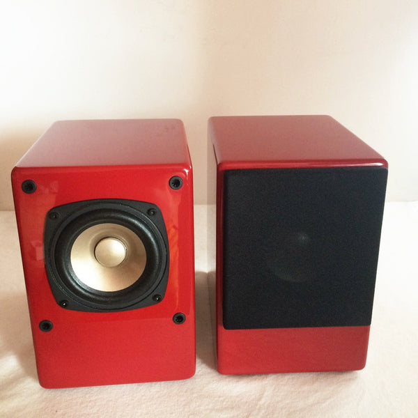 IWISTAO HIFI 4 Inches Full Range Speaker 2x60W 4Ohms 60Hz-23KHz 92dB Max AKISUI4 for Monitor Speakers Tube Amplifier Piano Paint Red