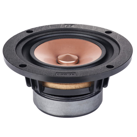Mark HIFI 4 Inch Full Range Speaker Unit 1 Pair Metal Cone 8 Ohms 20-40W 60Hz-25KHz