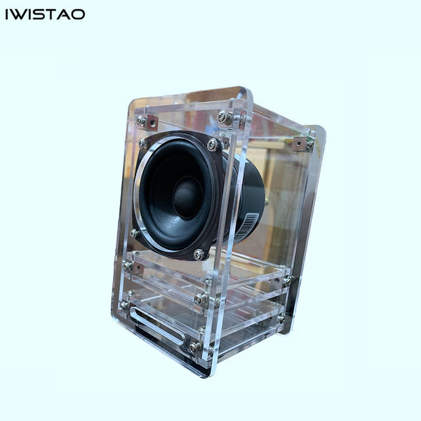 IWISTAO 20W HIFI 3 Inch Transparent Labyrinth Speaker 4 ohm 84dB 1 Pair Stereo Audio
