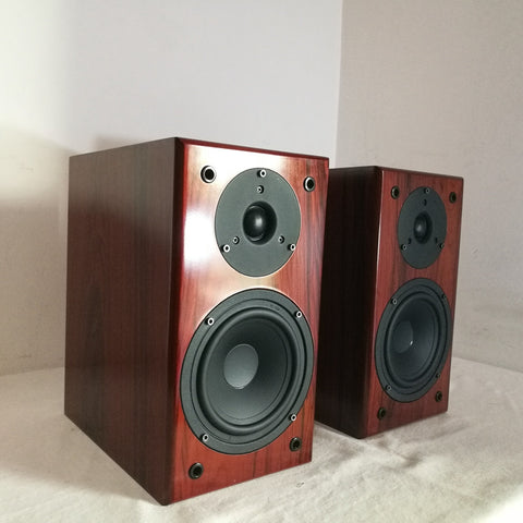 IWISTAO Bookshelf HIFI speakers Home 1 pair high sensitivity super Bass speaker high density board Wooden raw wood veneer Auido