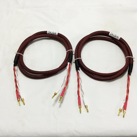 IWISTAO HIFI Speaker Cable with Origin Canare Wire 4S12F Budweiser Bananas Terminal