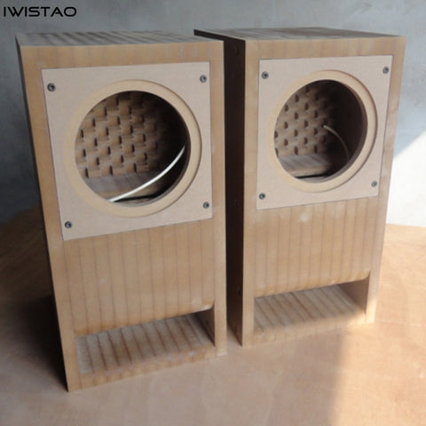 IWISTAO 3-6.5 Inch Full Range Empty Speaker Cabinet Kits Labyrinth Structure High-density Fibreboard for Tube Amp