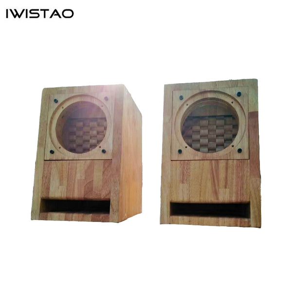 IWISTAO HIFI Empty Speaker Cabinet Finished Labyrinth Structure Solid Wood for Full Range
