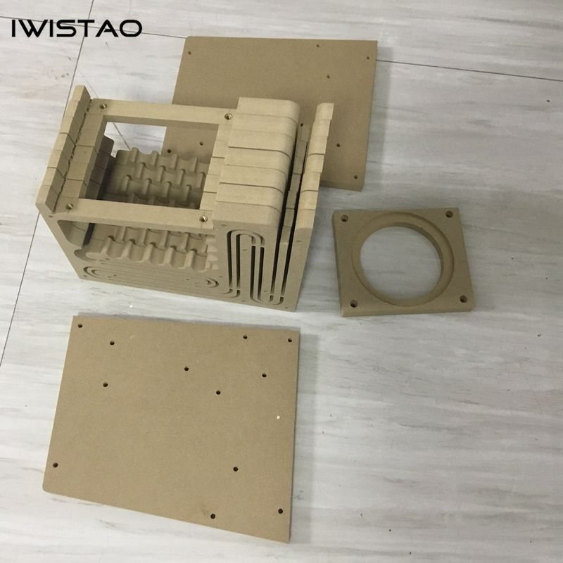 IWISTAO HIFI Empty Speaker Cabinet Kits Labyrinth Structure High-density  Fibreboard for Full Range