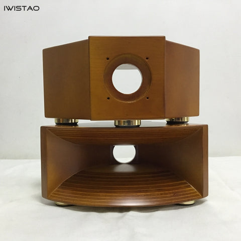 IWISTAO HIFI Empty Wood Horn Solid 1 Pair Treble Compensation for Fostex FT17H Wide 355mm