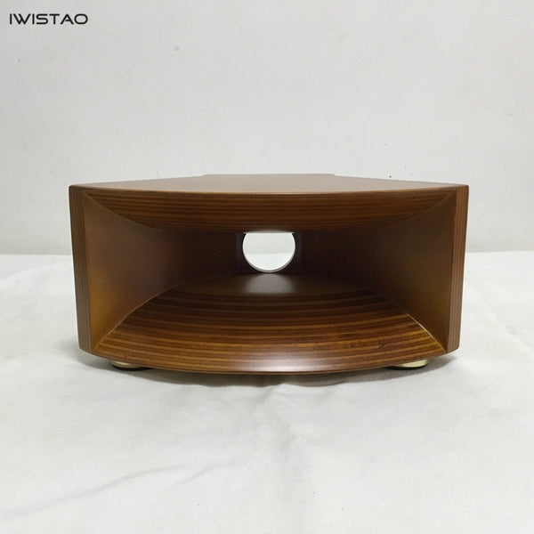 IWISTAO HIFI Empty Wood Horn Solid 1 Pair Treble Compensation for Full Range Matched Fostex FT17H Horn Wide 440mm