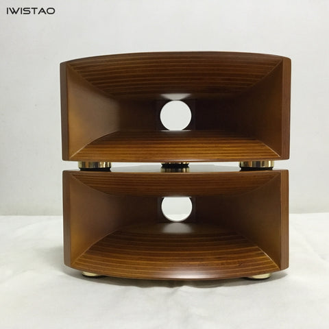 IWISTAO HIFI Empty Wood Horn Solid 1 Pair Treble Compensation for Full Range Matched Fostex FT17H Horn Super Tweeter