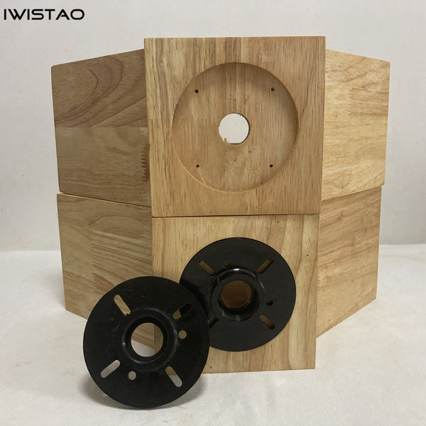 IWISTAO HIFI Empty Wood Horn Solid 1 Pair Treble Compensation for Full Range Speaker Wide 399mm