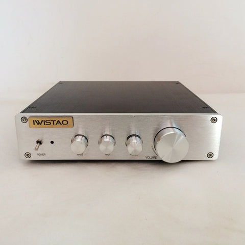IWISTAO HIFI Preamplifier Tone Adjustment Bass Tremble Middle OPA2604 LME49720 Class A Power Stereo