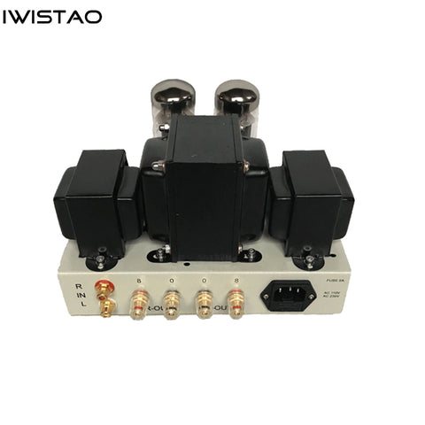 IWISTAO 5881A Tube Amplifier Single-ended Class A Mini Amp Manual Scaffolding EL34 Vacuum Tube Upgrade Version Gray Casing
